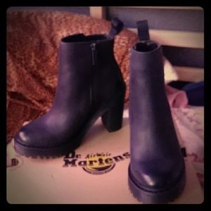 Dr Martens high heeled ankle boot